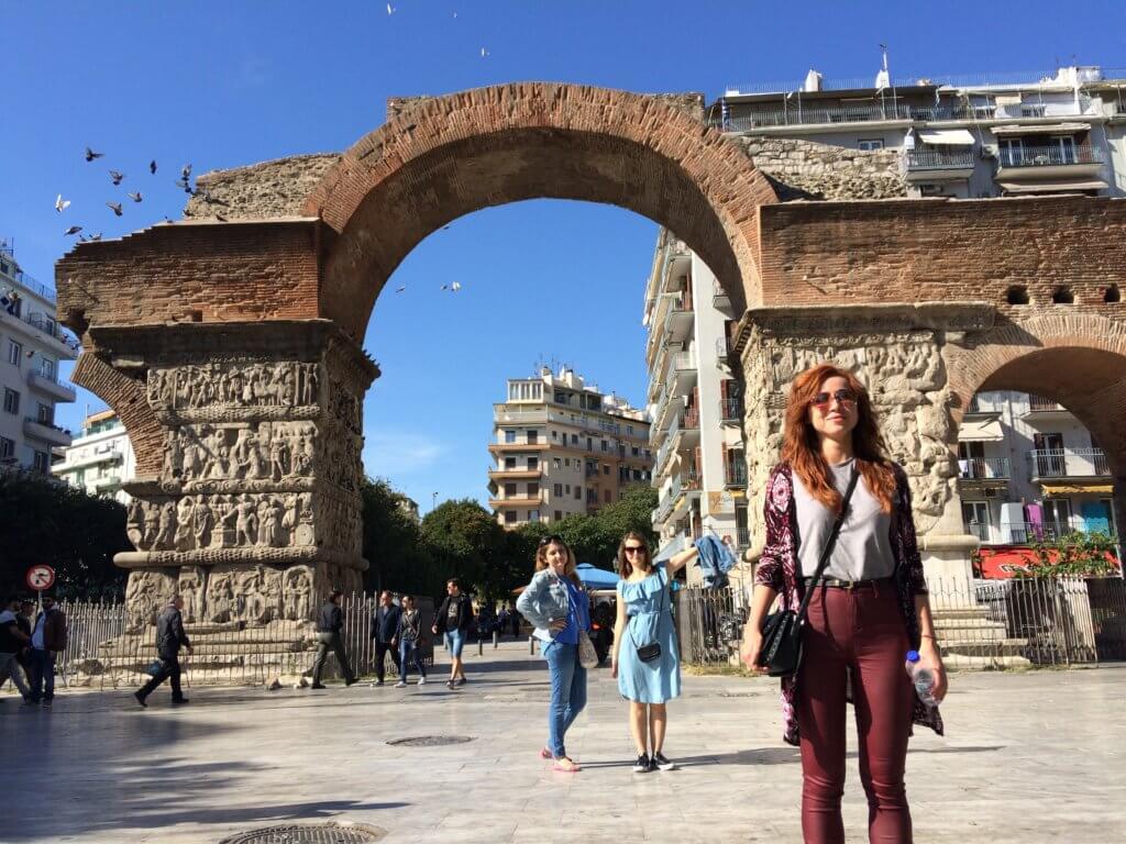 saloniki, grecja, wakacje, podróż, weekend, dziewczyny, przyjaciółki, impreza, zwiedzanie, ruiny, łuk, widoki