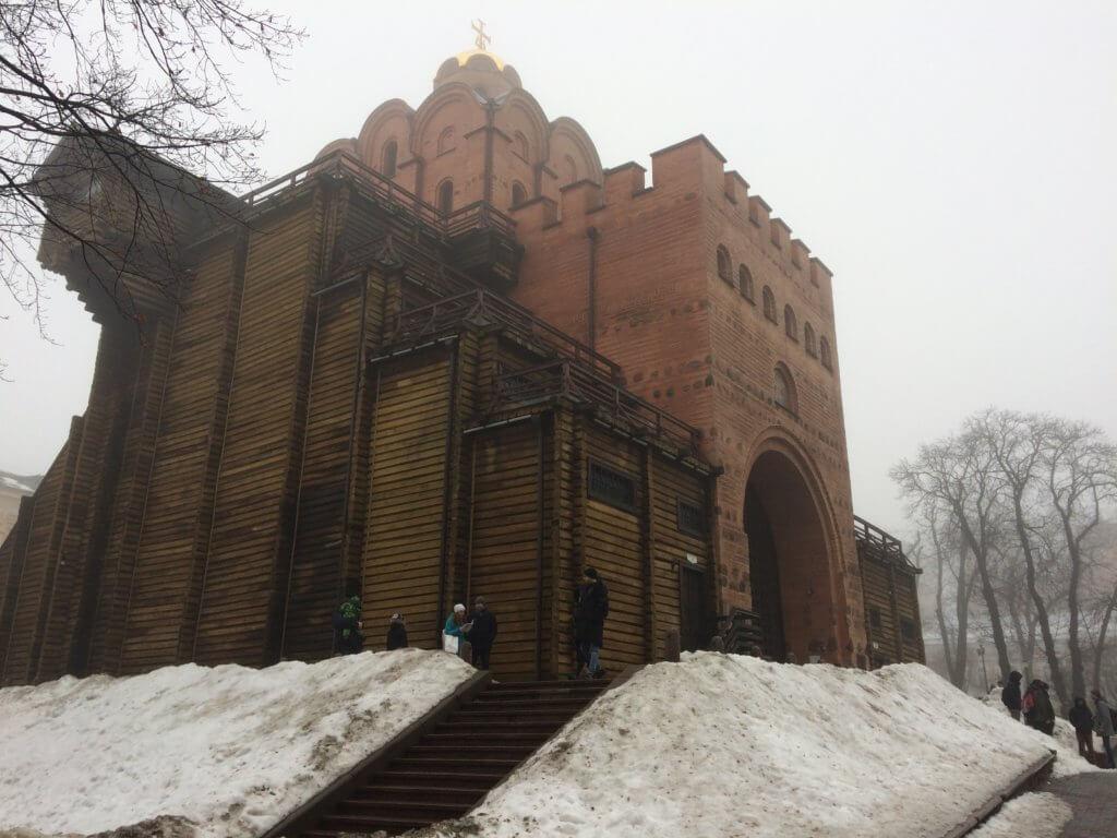 Kijów, stolica, Ukraina, zwiedzanie, podróże, razem, parka, wczasy, urlop, weekend, złota brama