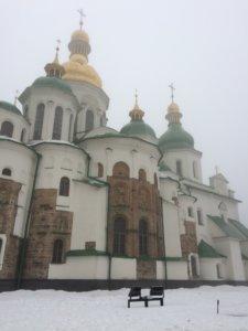 kijow, kyiv, kiev, ukraina, trip, podróże, para, we dwoje, zwiedzanie, zabytki, turysta, zima, zabytki, świątynia, sobór