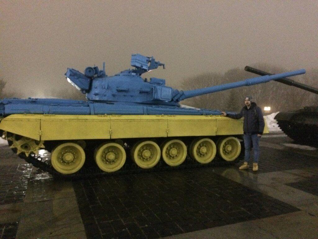 Kijów, stolica, Ukraina, zwiedzanie, podróże, razem, parka, wczasy, urlop, weekend, wojna, wojsko, muzeum, czołg