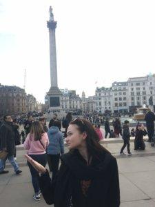 Londyn, weekend, zwiedzanie, miasto, stolica, Wielka Brytania, turysta, Trafalgar Square, pomnik