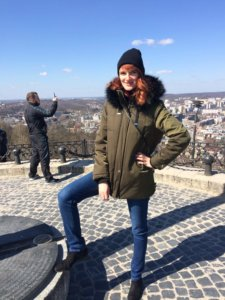 Lwów, zwiedzanie, miejsca, Ukraina, turystyka, wysoki zamek, góra, wzgórze, szczyt, flaga