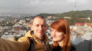 Lwów, zwiedzanie, miejsca, Ukraina, turystyka, wycieczka, Neptun, fontanna, Ratusz, Stare Miasto, Rynek, widok, panorama miasta