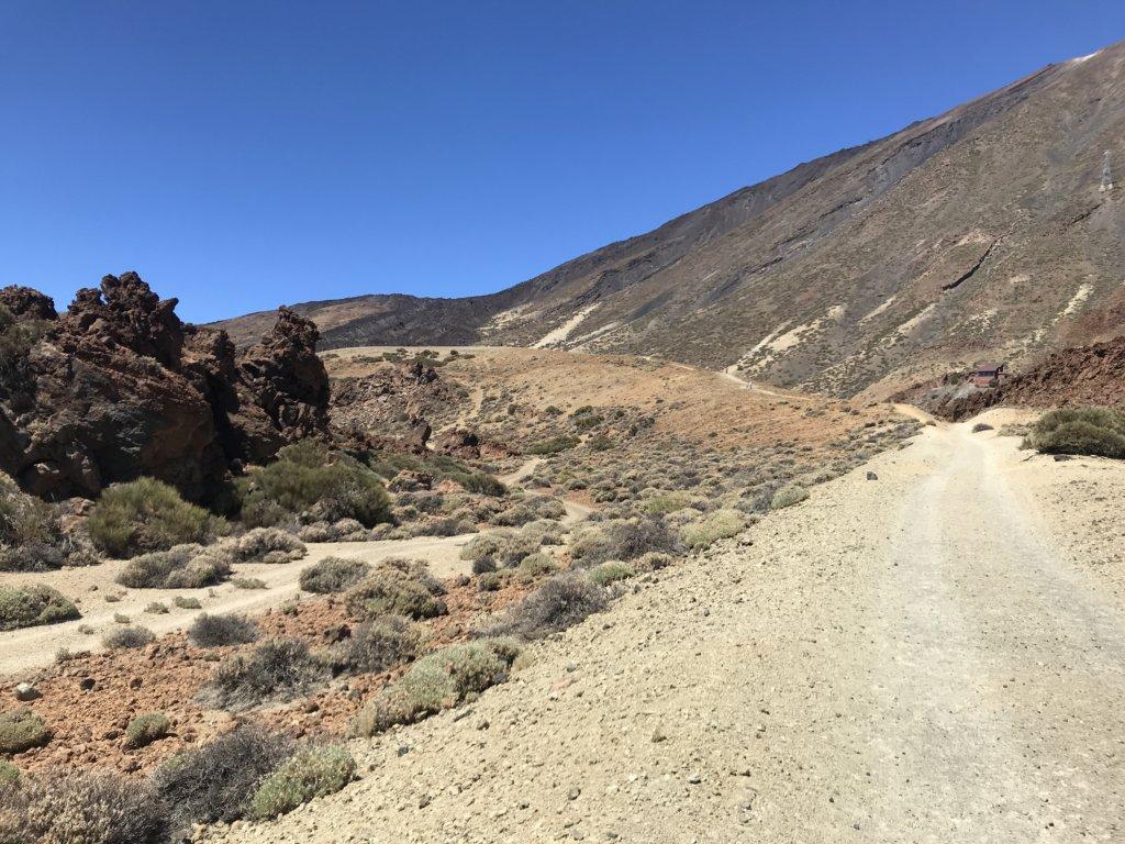 wulkan, pustynia, krzaki, niebo, kanary, park narodowy, skały