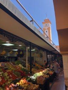 market, targ, kanary, stolica, miasto, owoce, warzywa, zegar