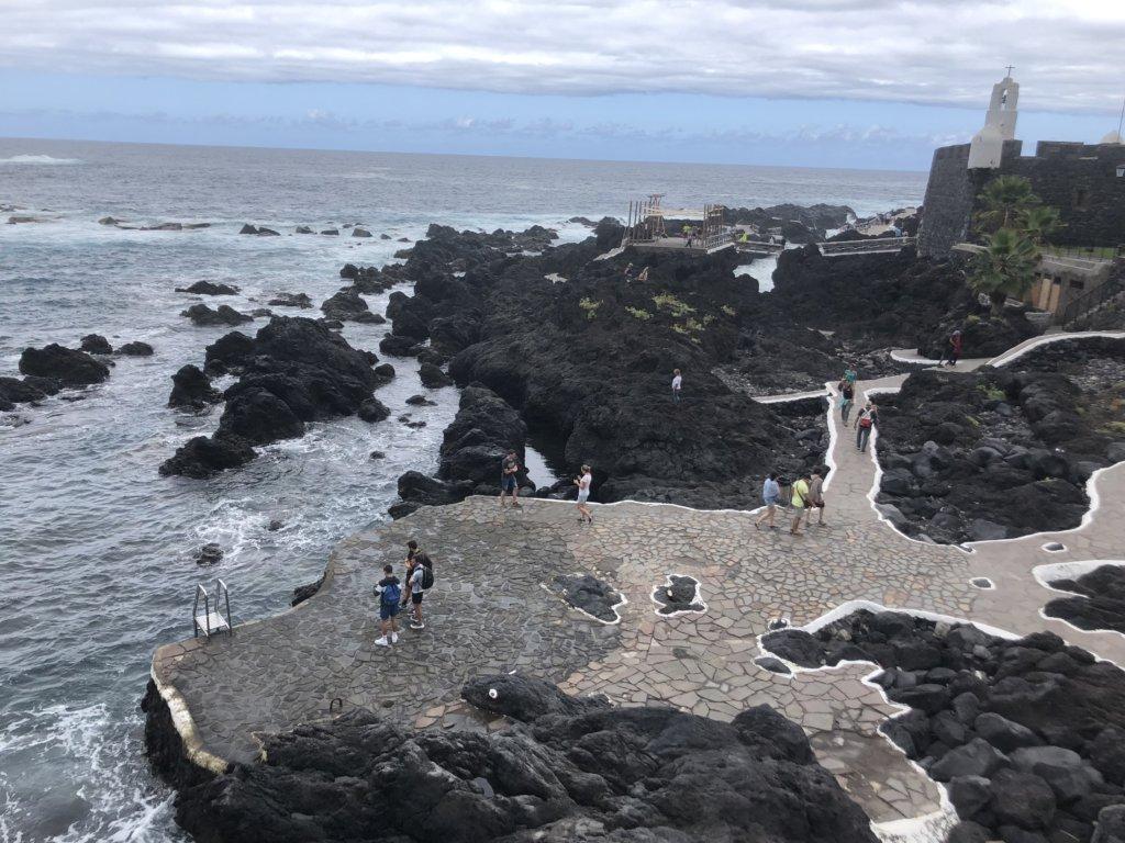 woda, baseny naturalne, ocean, skały, garachico