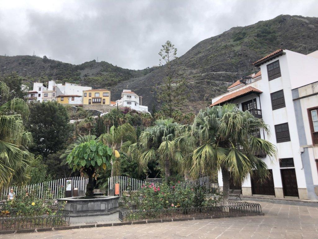 miasteczko, klimat, ludzie, palmy, budynki, garachico