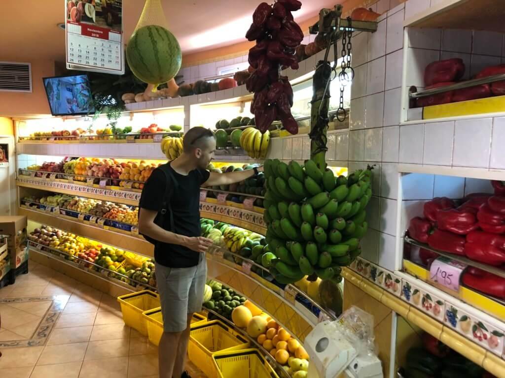 market, targ, kanary, stolica, miasto, warzywa, owoce