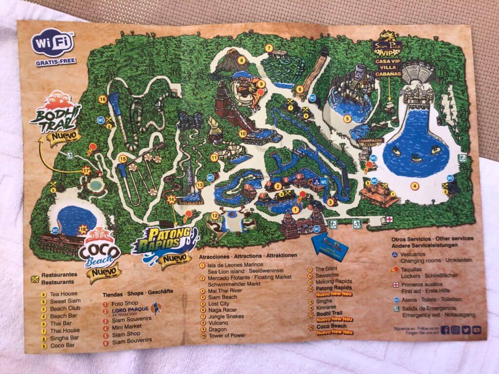 siam park, aquapark, kanary, mapa, atrakcje