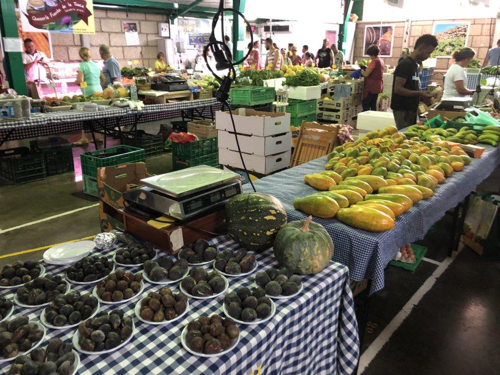 figi, papaja, targ, miejscowość, lokalnie, el medano