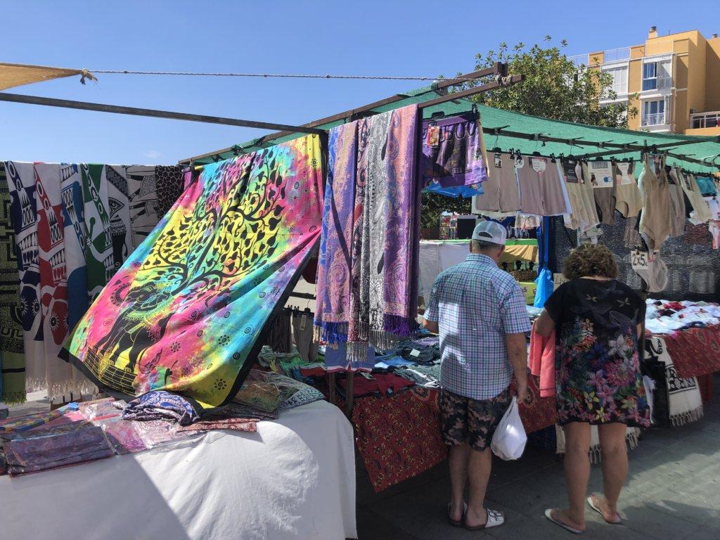 targ, chusty, materiały, el medano