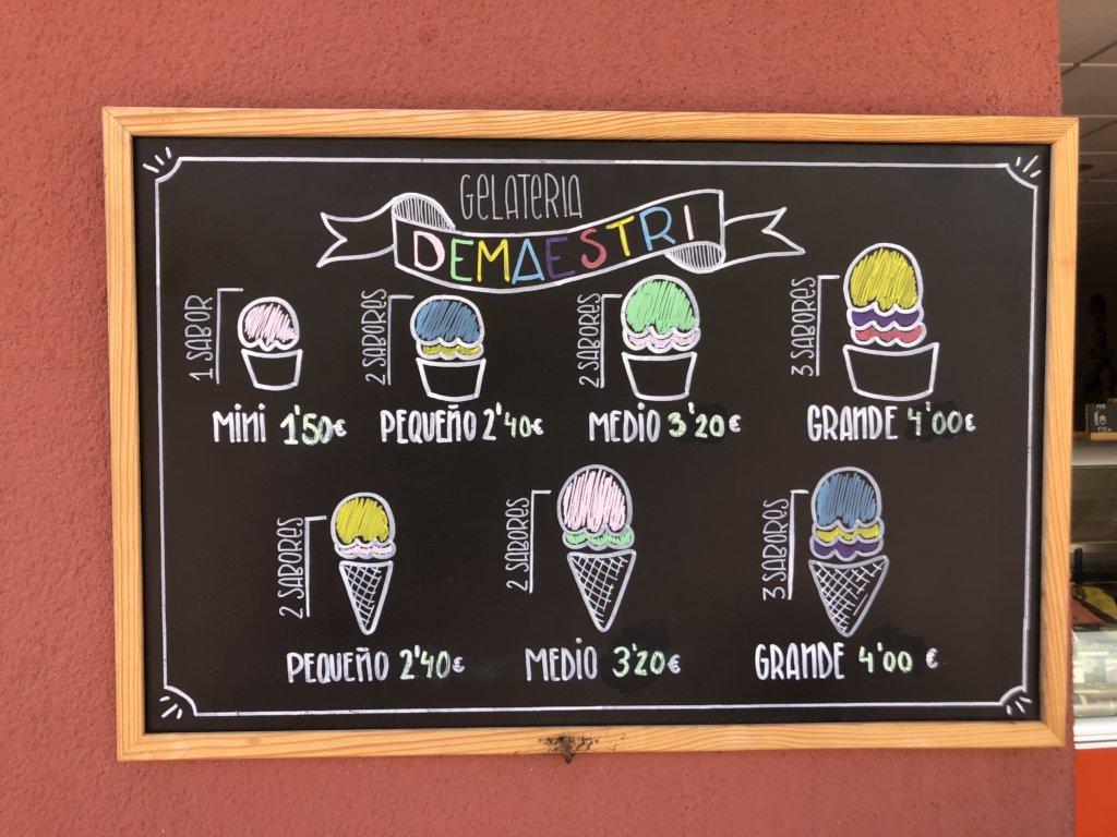 lody, grafika, rysunek, cennik, jedzenie, restauracja, el medano