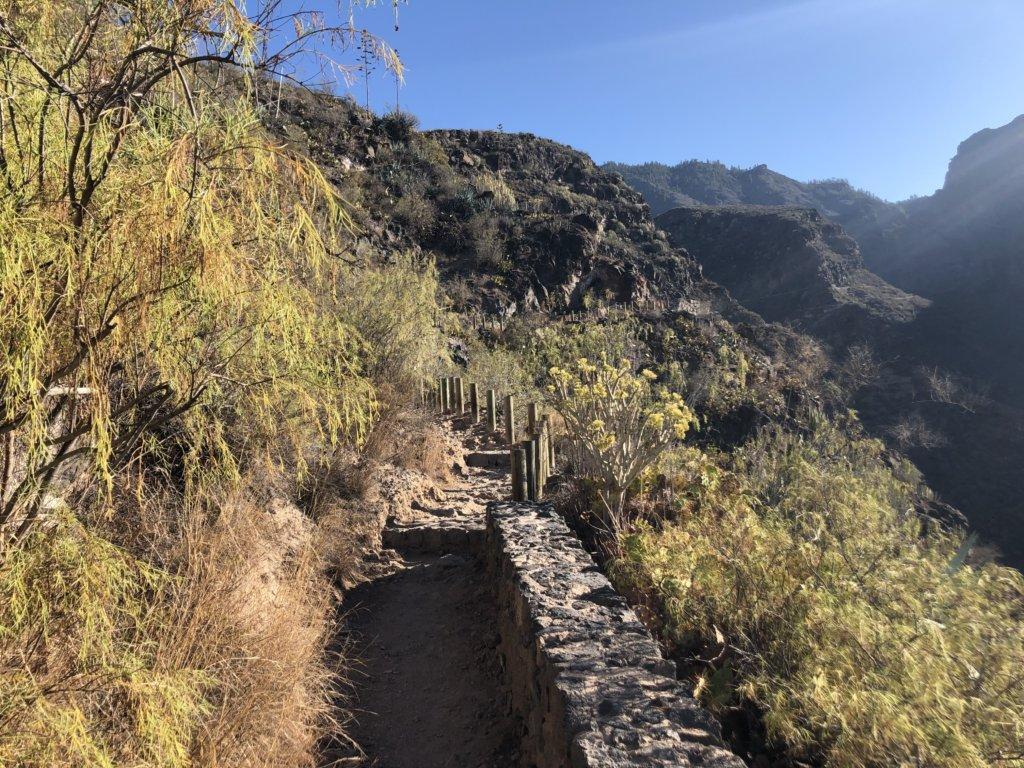 wąwóz, dolina, góry, kanary, widok