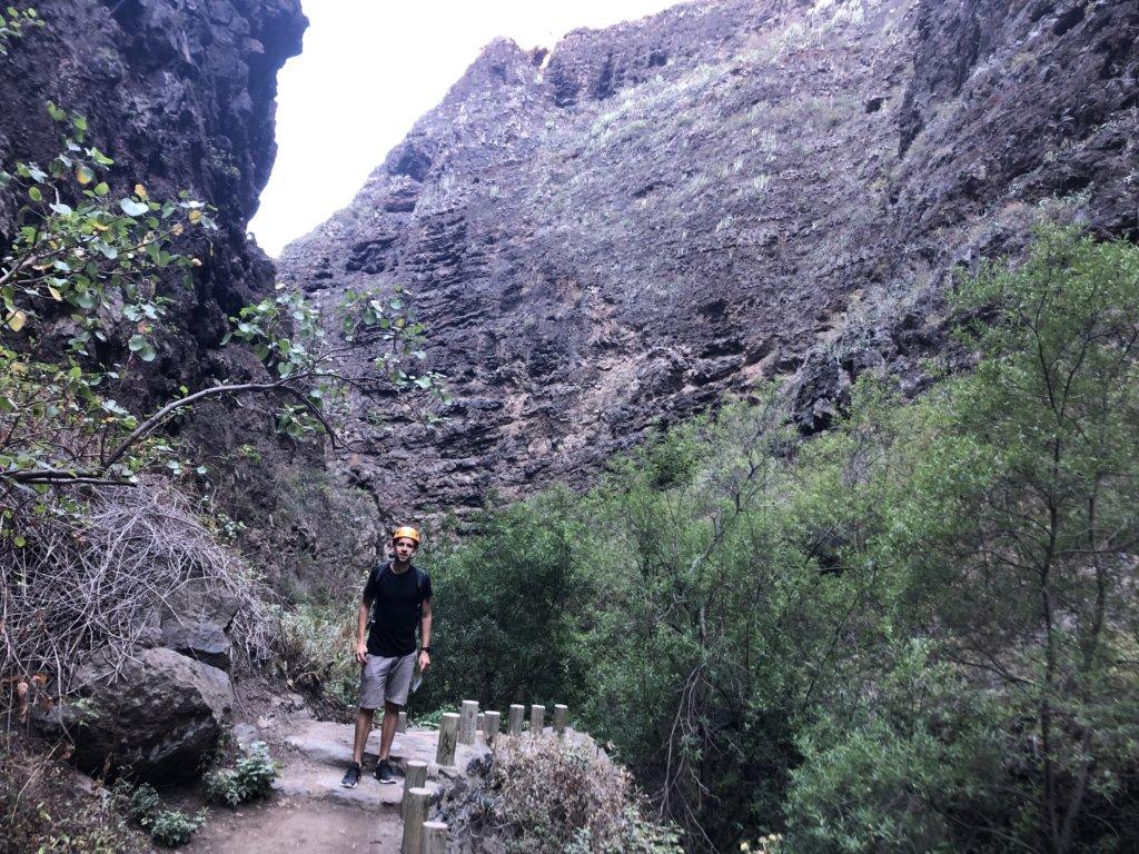 ścieżka, dolina, wąwóz, trasa, szlak, chłopak, góry
