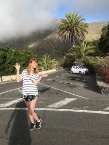 dolina masca, wioska, góry, szczyt, kanary, wycieczka, dziewczyna, parking, palmy
