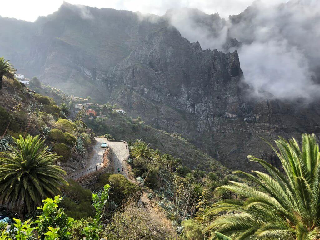 dolina masca, wioska, góry, szczyt, kanary, wycieczka