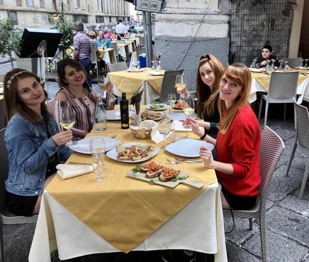 Obiad w sycylijskiej restauracji